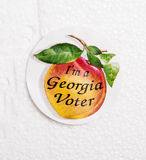 Georgia Voter Sticker Foto de archivo