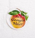 Georgia Voter Sticker. Sticker from polls saying I'm a Georgia Voter Stock Photo