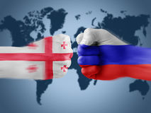 Georgia x russia Stock Photos