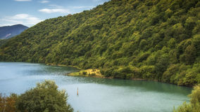 Georgia,Zhinvalis National Water Reserve. Georgia,Gruzia,Saqartvelo, Zhinvalis National Water Reserve - the lake and hills royalty free stock image