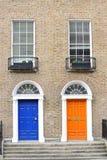 Georgian двери в Дублине Стоковая Фотография RF