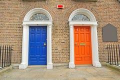 Georgian двери в Дублин Стоковые Изображения RF