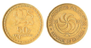 Georgian старая монетка Стоковые Фото