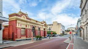 Free Georgian And Victorian Style Architecture Buildings And The Historic Round House, High Street, Freemantle, Australia Royalty Free Stock Photo - 162433215