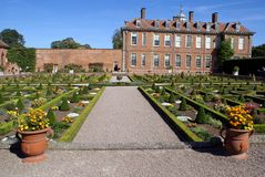 architecture and knot garden Stock Image