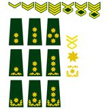 Georgian armed forces insignia Stock Image