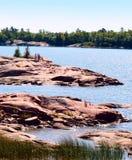 Georgian Bay coastline. At Collin's Inlet in Killarney, Ontario Stock Images