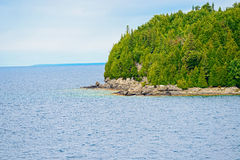 Georgian Bay costline near  Tobermory, Ontari Stock Photo