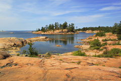 Georgian Bay islands, Killarney Provincial Park, Ontario, Canada. Georgian Bay red islands, Killarney Provincial Park, Ontario, Canada Stock Photography