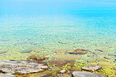 Georgian Bay waters near Tobermory in Ontario, Canada Stock Photos