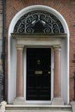 Georgian black Door. Famous Georgian black Door in a city house in Dublin, Ireland Stock Photography