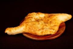 Georgian bread - Lavash. In the plate stock image