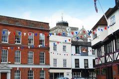Georgian Buildings. Georgian & half-timbered facades in Romsey Stock Photos