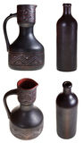 Georgian ceramic pottery pitcher and bottle Stock Photo
