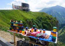 Georgian Churchkhela and Honey royalty free stock photography