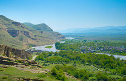 Georgian country landscape Stock Photo