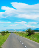 Georgian country road Royalty Free Stock Photography