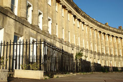 Georgian Crescent. The Royal Crescent in the City of Bath, UK Stock Images