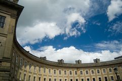 Georgian Crescent in Buxton Stock Photography