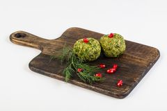 Georgian cuisine - Phali. With spinach stock photography