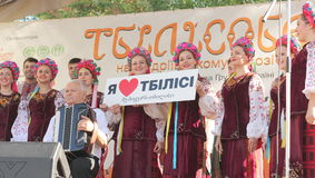 Georgian culture festival Stock Photos