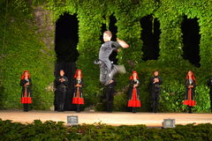 Georgian dancer jump Stock Photos