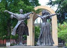 Georgian dancers monument Stock Image