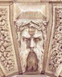 Georgian Decorative Keystone D. Captured in Bath, England, Shallow Depth of Field Split Toning Photography Stock Images