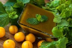 Free Georgian Delicious Sauce Tkemali Of Heavy Plum Royalty Free Stock Images - 57833939