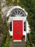 Georgian Door. A red Georgian door on an Irish home Stock Image