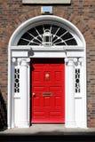 Georgian door in Dublin Royalty Free Stock Images