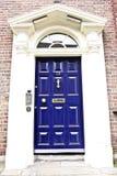 Georgian door, Dublin, Ireland. Famous Georgian Door in victorian type house, Baile Atha Cliath, Eire Royalty Free Stock Photos