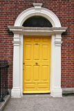 Georgian door, Dublin, Ireland. Famous Georgian Door in victorian type house, Baile Atha Cliath, Eire Royalty Free Stock Image