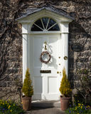 Georgian Door - Easter Wreath Royalty Free Stock Image