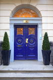 Georgian Door in Harley Street Stock Images