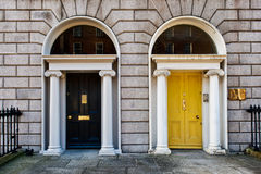 Georgian Doors royalty free stock photos