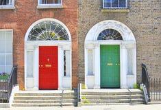 Georgian doors in Dublin. City in ireland stock photography