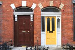 Georgian doors in Dublin. Ireland royalty free stock photos
