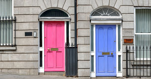 Georgian doors in Dublin Royalty Free Stock Images