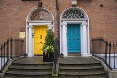 Georgian doors in Dublin Stock Photo