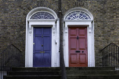 Georgian doors Stock Image
