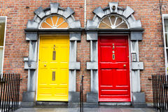 Georgian Doors Stock Photo