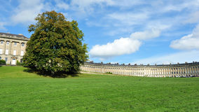 Georgian Era Crescent and Green Park in Bath. The Georgian Era Royal Crescent Seen from Victoria Park in Bath England Royalty Free Stock Photos