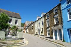 Georgian facades at Padstow Cornwall. Attractive fishing town with working harbour and short ferry crossing to quaint village of Rock across the estuary. Plenty royalty free stock image