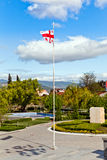 Georgian flag waving Royalty Free Stock Photos
