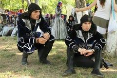 georgian folk gen för konstfestival Royaltyfri Bild