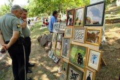georgian folk gen för konstfestival Arkivfoton