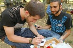 georgian folk gen för konstfestival Arkivbild