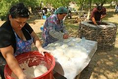 georgian folk gen för konstfestival Arkivfoto