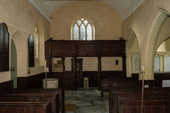 Georgian gallery of Church of The Blessed Virgin Mary in Somerse Stock Image